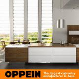 Oppein 현대 모든 섬 디자인 PVC 목제 부엌 찬장 (OP16-PVC02)