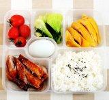 처분할 수 있는 6 격실 Bento 또는 명확한 뚜껑 덮개를 가진 식사 또는 땅콩 상자