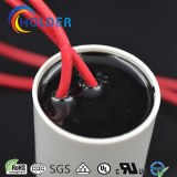 Condensatore di inizio metallizzato del motore a corrente alternata Della pellicola del polipropilene (CBB60 805/450) con cavo rosso