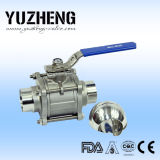 Vávula de bola de la categoría alimenticia de Yuzheng con el certificado del FDA