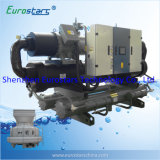Refrigerador de agua refrigerado por agua del tornillo industrial de los refrigeradores de la transformación de los alimentos