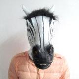 Máscara Longhorn caliente nuevo producto de látex de Halloween la cabeza Zebra