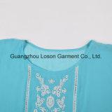 Camiseta de la muchacha atractiva del diseño americano de la alta calidad