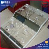 Étalage cosmétique acrylique de compteur fait sur commande de mémoire