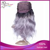Parrucca brasiliana della parte anteriore del merletto di colore di Ombre dei capelli umani del Virgin