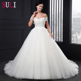 Charming Sweetheart Tulle with Pearls Ball Gown Wedding Dress (SL005)