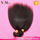 安いペルーのYaki Remyのバージンの人間の毛髪の束のねじれた直毛の織り方