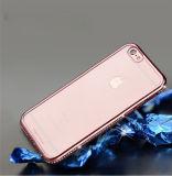iPhone 6s/6plusはドリル&#160によって電気めっきする; 透過TPU  携帯電話の箱 (XSDD-039)