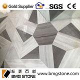 Китайские серые деревянные мраморный водоструйные медальоны для украшения стены и пола