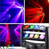 LED DJ beleuchten 8 Köpfe 4 in 1 beweglichem Hauptarmkreuz-Licht