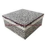 Elegante papel hecho a mano de cartón de embalaje caja de regalo