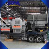 Trituradora de piedra móvil movible diesel fácil famosa