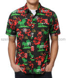 Camisas de vestir personalizadas al por mayor de los hombres (ELTDSJ-384)