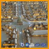 O modelo bonito do edifício modelo/do modelo/projeto bens imobiliários modelo do edifício/modelo do apartamento/todo o tipo dos sinais