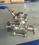 API Sanitary Tri-Clamp 3PC Ball Valve mit Mounting Pad