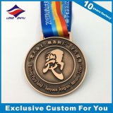 Medaglie religiose di sport del premio delle medaglie di rame antiche del metallo con il nastro