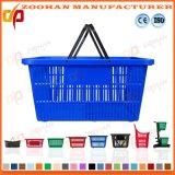 Durable Retail Shop Supermarket Plastic Handle Panier portable (Zhb107)