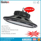UFO LED High Bay Light Fixture 240W 200W IP65 130lm/W 5 Years Warranty di alto potere