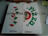 Euroart-dünnes Anzeigeinstrument-gewölbter Kraftpapier-Pizza-Kasten (PZ-059)
