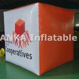판매를 위한 주문을 받아서 만들어진 팽창식 입방체 사각 PVC 풍선