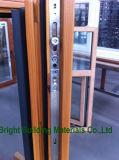 Puerta esmaltada doble de madera revestida de aluminio modificada para requisitos particulares de Bifolding