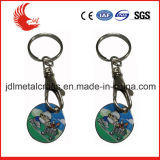 Porte-clés symbolique en métal de chariot fait sur commande à caddie pour promotionnel