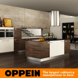 Modern Wood Grain MDF Kitchen Cabinets (OP15-PP03)