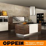 Modernos Veta de madera MDF Muebles de Cocina (OP15-PP03)