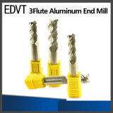Molino de extremo de aluminio de la herramienta de corte de Edvt 3flute
