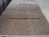中国の自然なかえでの赤い花こう岩のタイルか平板またはカウンタートップ