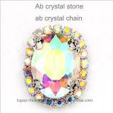 Knoop van het Kristal van de Diamant van de Klauw van de kleur naait de Ketting Gegrenste Ovale op het Bergkristal van de Klauw (sW-Ovaal 13*18)