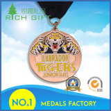 o projeto 3D personalizou a medalha simbólica gravada da moeda do metal do logotipo para a venda por atacado