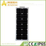 уличный свет 20W СИД интегрированный солнечный с батареей лития LiFePO4 и датчиком PIR