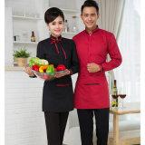 Uniforme élégant de serveur de restaurant (service d'OEM) de coton et de polyester