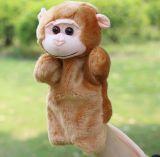 Jouets de marionnette de doigt de famille de peluche de marionnette de main, poupée bourrée personnalisée de main de peluche, jouets de peluche d'OEM