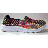 Sapatos de moda Sapatos de tecelagem Slip-on Shoes Sapatos de barco para mulheres