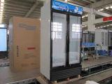 Glastür-aufrechter Getränkekühlraum des Scharnier-1000L