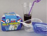 Le plastique rectangulaire emportent le conteneur de nourriture de Microwavable 9.5oz
