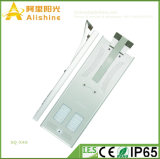 Nuevo 40W todo en un trabajo solar de la luz de calle del diseño IP65 LED para el área da alta temperatura