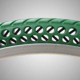 La bici coloreada caucho sólido de calidad superior del fabricante de China pone un neumático el neumático sólido de la Libre-Inflación 16*1.5 para la bici plegable MTB del camino de las bicis