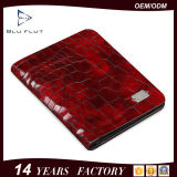 Люди портмона бумажника неподдельного зерна способа красные кожаный миниые карманные