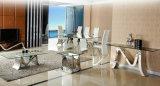 Moderner Entwurfs-Vierecks-Glasspeisetisch für Wohnzimmer-Möbel