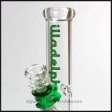 "HfyガラスIlladelph 9mm Waterpipeの新しい10の""水ぎせるのまっすぐな管のまっすぐな管ガラスの配水管の石油掘削装置の煙る管"