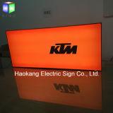自由な地位のためのLEDの二重側面アルミニウムファブリックライトボックスは屋外に署名する