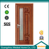 Personalizzare il portello di legno del MDF del PVC con vetro per i progetti delle Camere