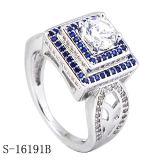 18k het goud plateerde de Echte Zilveren Juwelen van de Ring