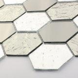 A decoração de prata de cristal da parede telha o mosaico de vidro para o banheiro Backsplash