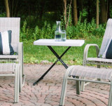 HDPE novo Personal&#160 do estilo; Adjustable Table Jardim Acampamento-Branco
