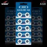 1.5V Batterij van de Cel van de 72mAh de Alkalische Knoop AG9