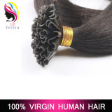 De Uitbreidingen van het Menselijke Haar van het Uiteinde van U van de Spijker van Remy van de keratine